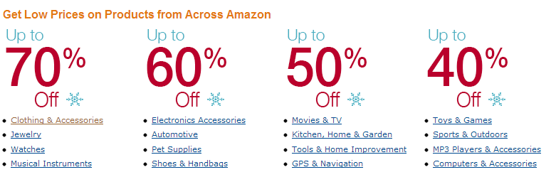 Seasonal offers from Amazon