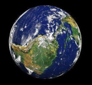 Image of Planet Earth to help portray the message of environmentally friendly carrier bags