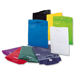 photo of a group of different coloured carrier bags