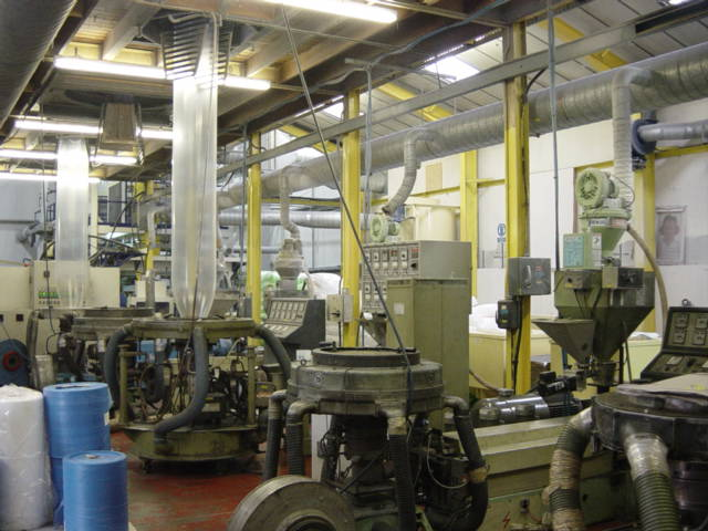 view of shop floor where mailing bags are made