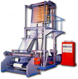 view of a polythene bag production machine